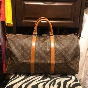 Authentic Louis Vuitton Keepall 50 Bandolier